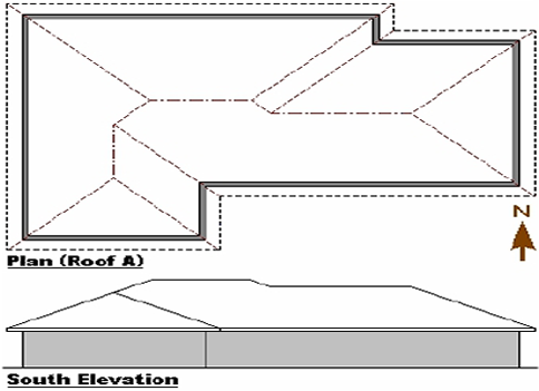 Roof truss elevations endo truss for Flat roof elevation